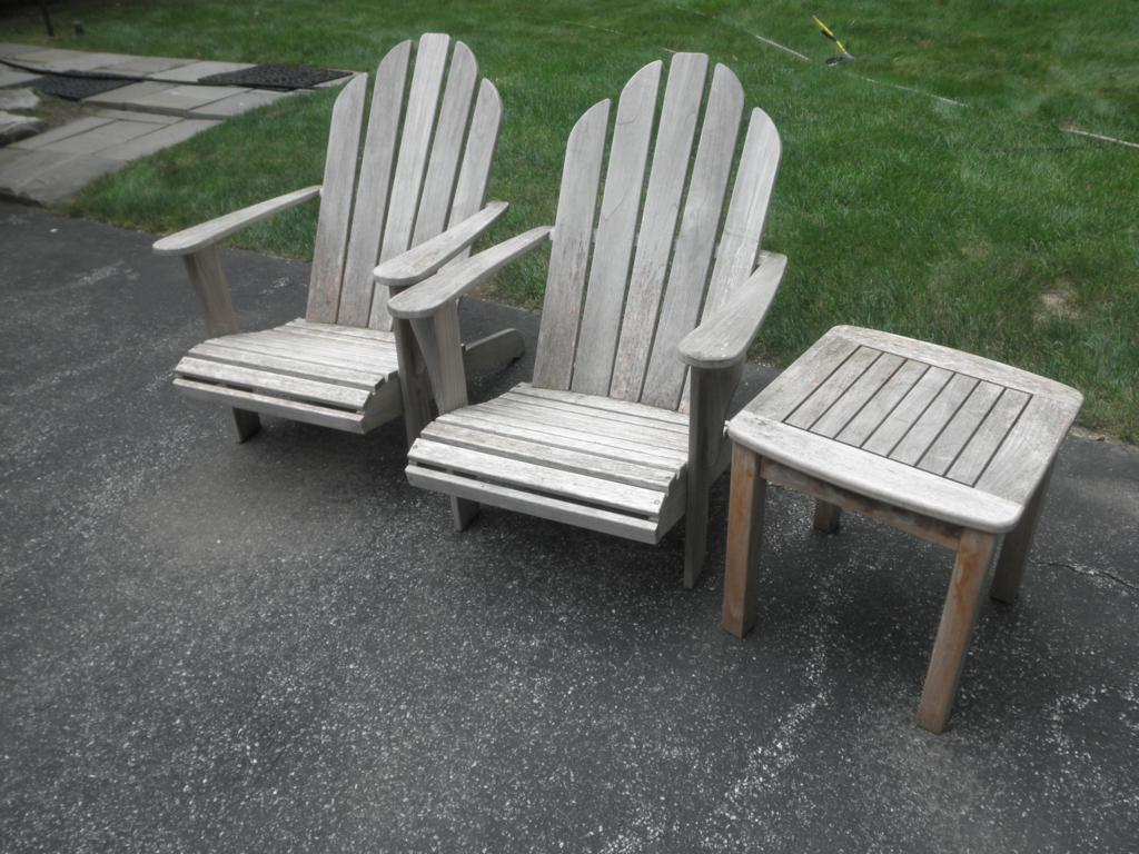 Pressure cleaning outdoor furniture westchester power for Wooden garden furniture